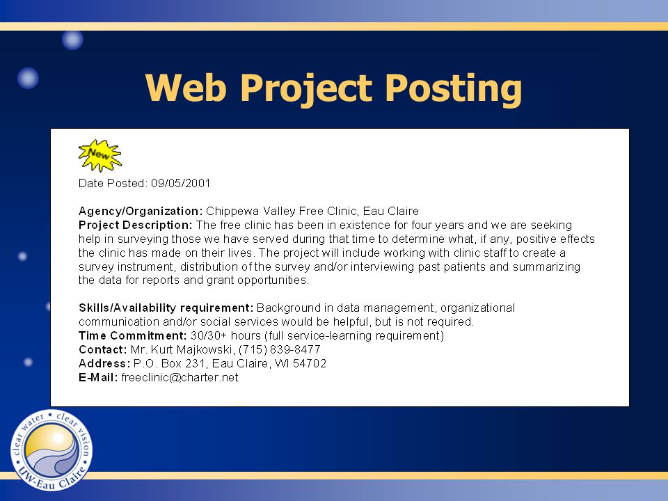 Web Project Posting