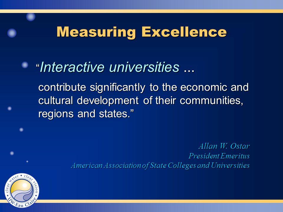 Measuring Excellence Allan W.