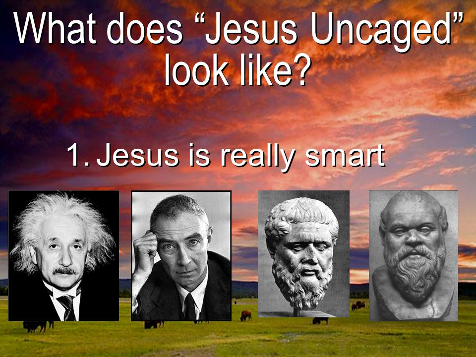 What does Jesus Uncaged look like 1.Jesus is really smart