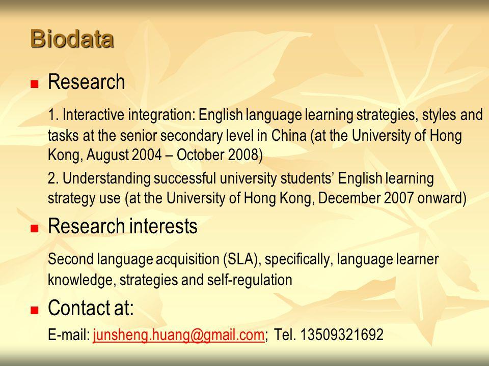 Biodata Research 1.
