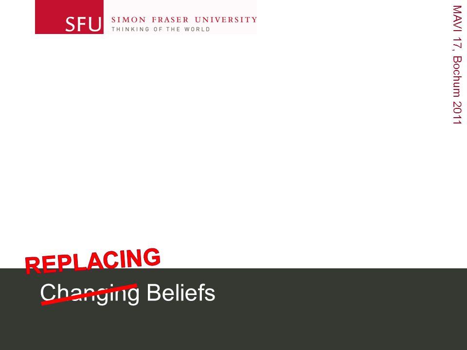 MAVI 17, Bochum 2011 Changing Beliefs
