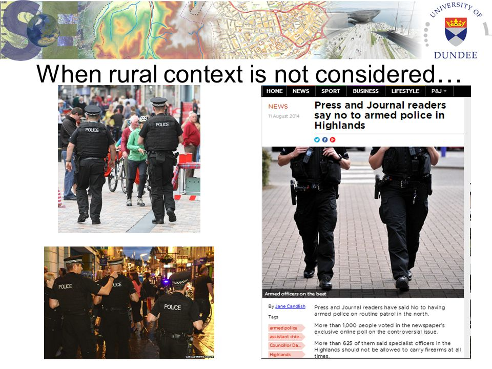 When rural context is not considered …