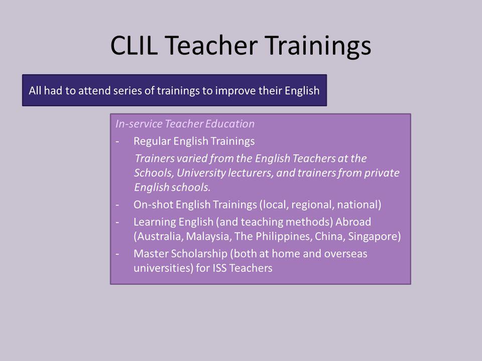 CLIL Teacher Trainings