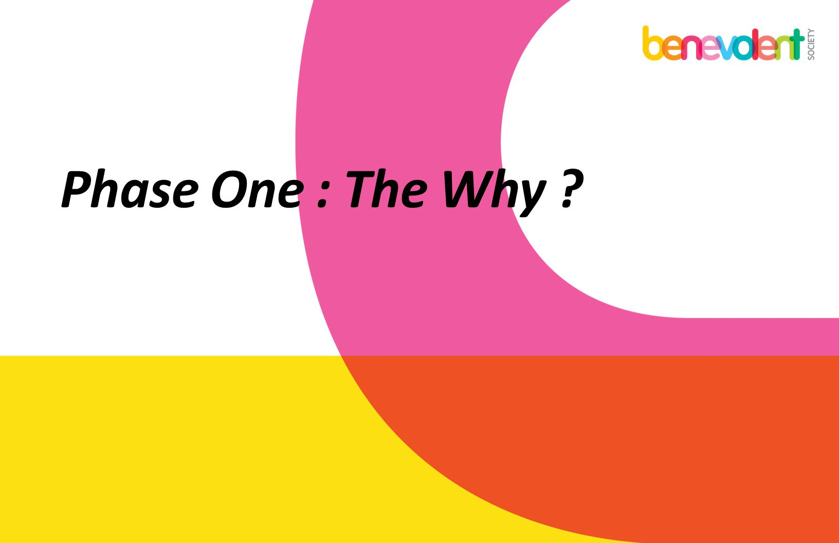 Phase One : The Why ?