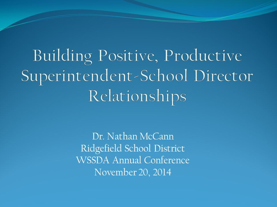 Commitment to No Surprises  The district gains nothing when the superintendent or school board is surprised in public.