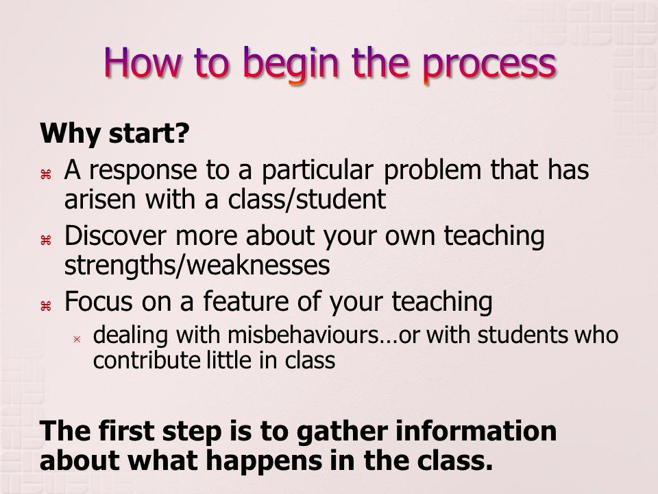 Why start.