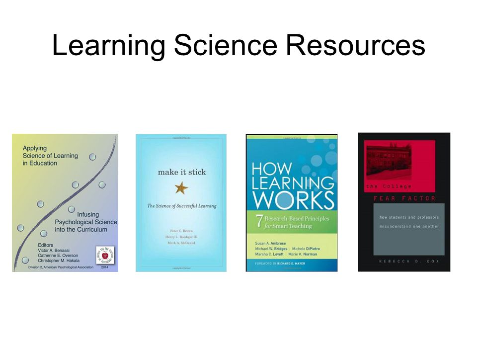 Learning Science Resources