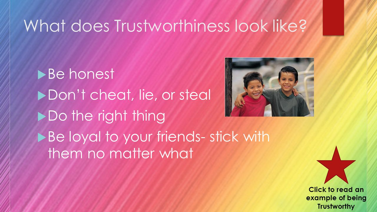 What does Trustworthiness look like.