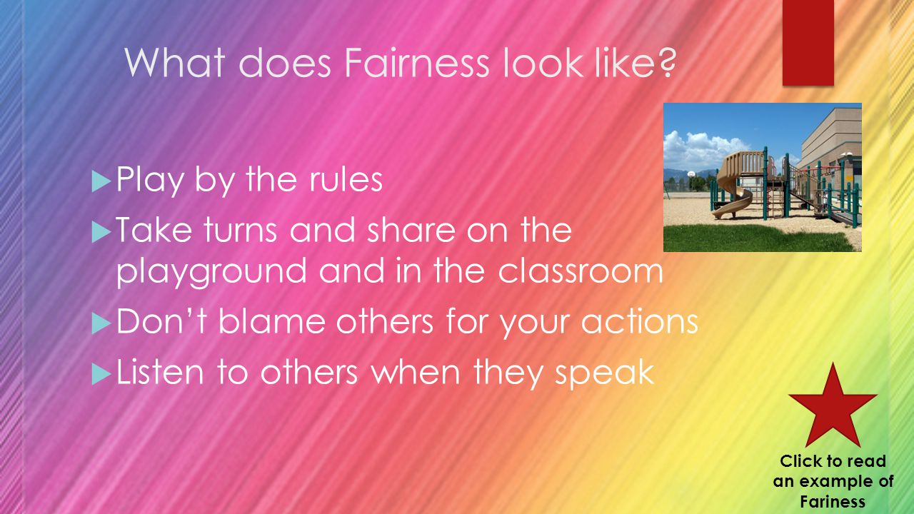 What does Fairness look like.
