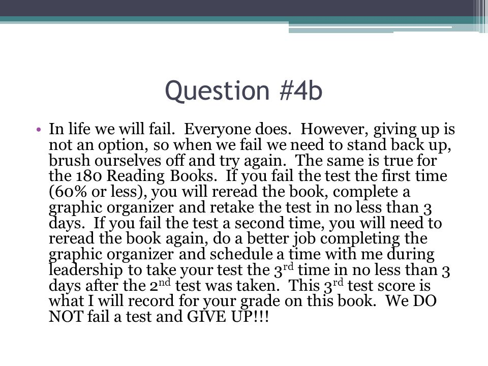 Question #4c You are not only required IN class reading but also OUTSIDE class reading.