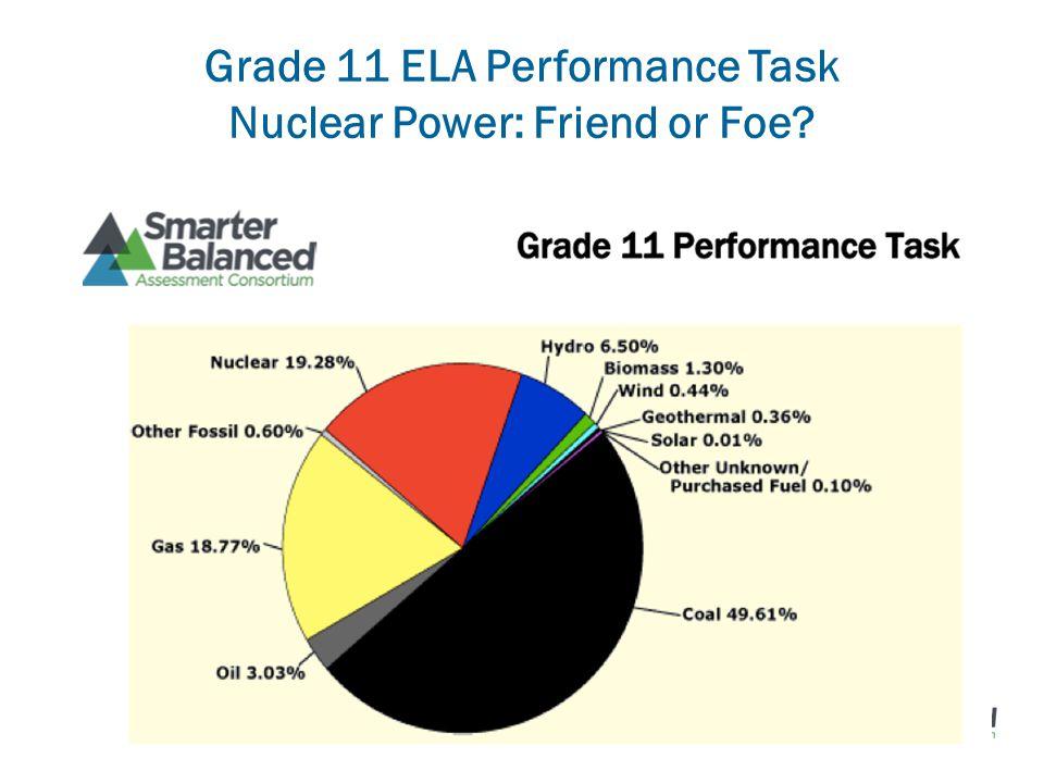Grade 11 ELA Performance Task Nuclear Power: Friend or Foe
