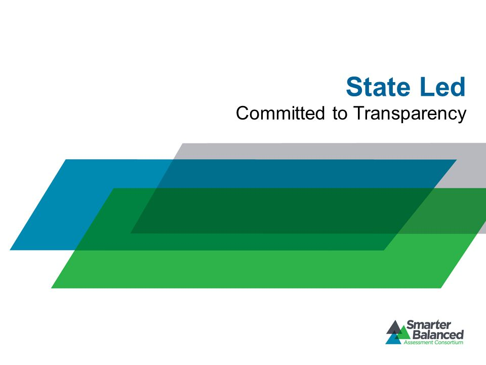 State Led Committed to Transparency