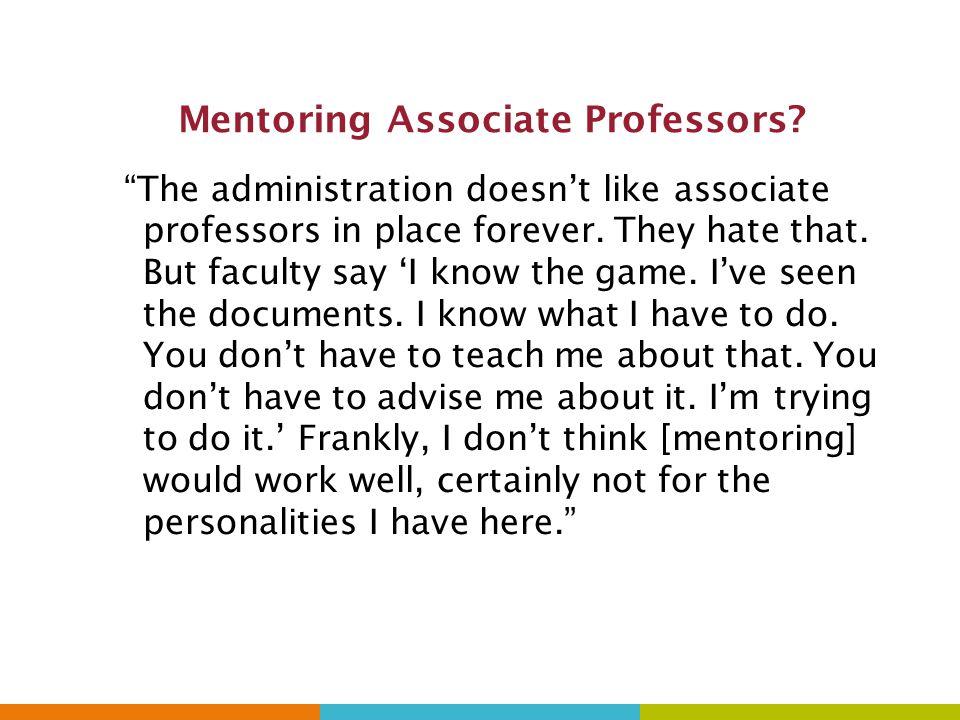 Mentoring Associate Professors.