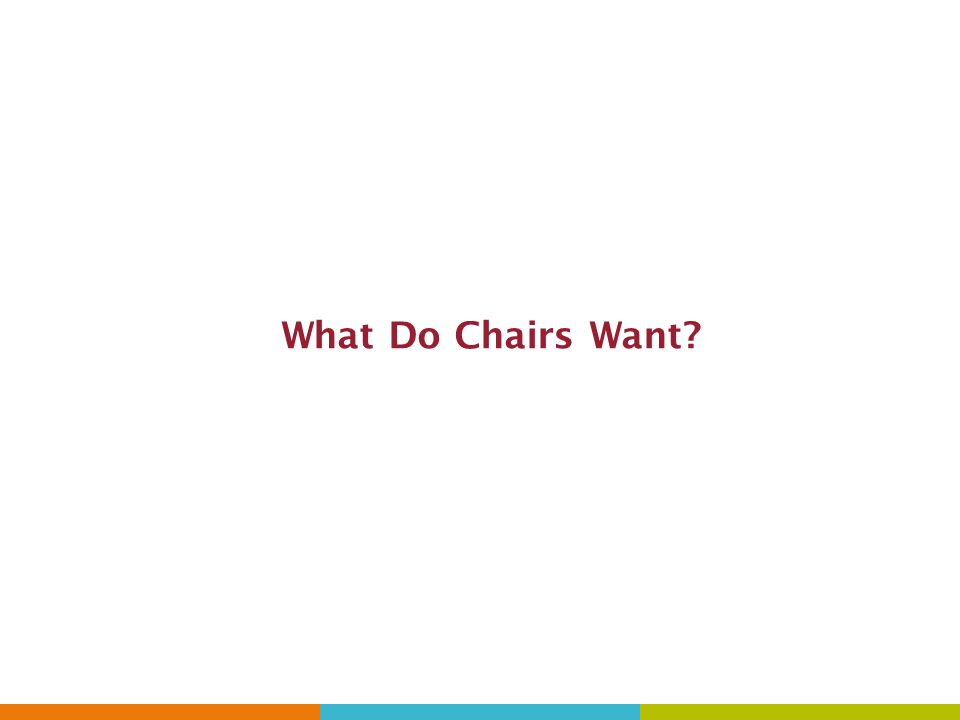 What Do Chairs Want