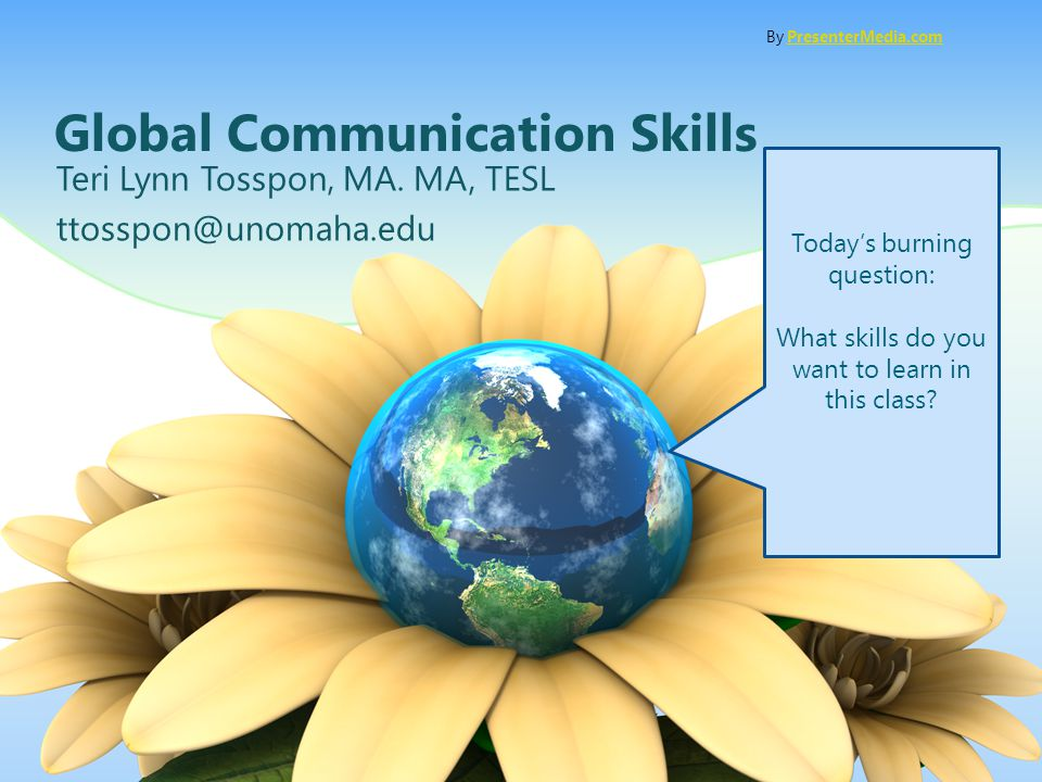 Global Communication Skills Teri Lynn Tosspon, MA.