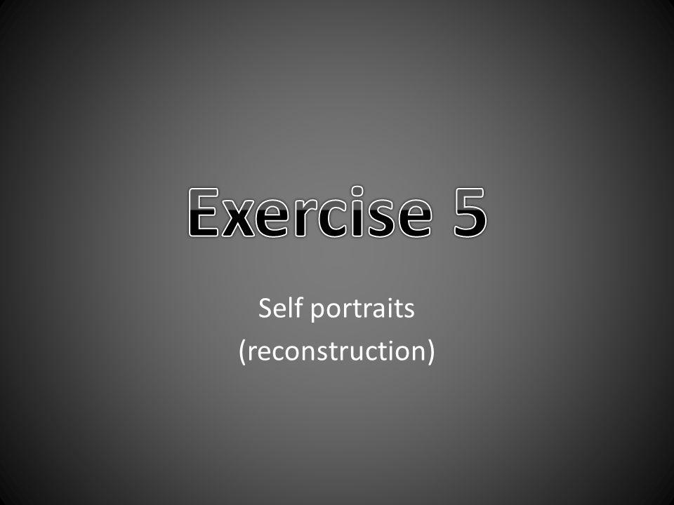 Self portraits (reconstruction)