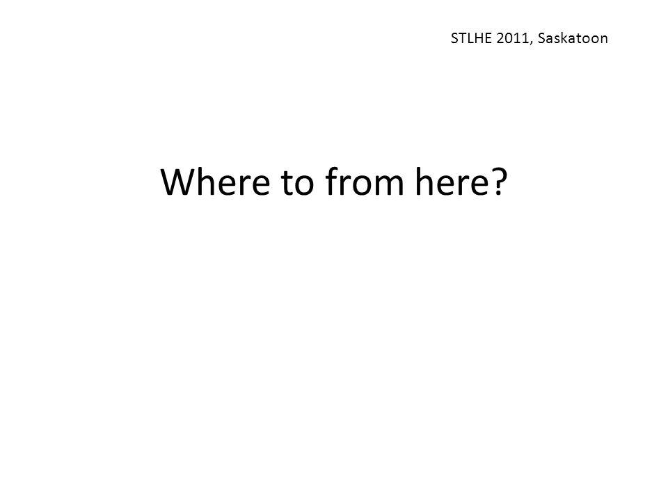 Where to from here? STLHE 2011, Saskatoon