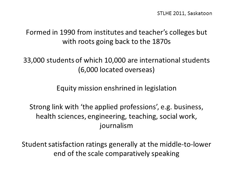 STLHE 2011, Saskatoon Q11: Briefly, what does the 'scholarship of teaching and learning' mean to you.