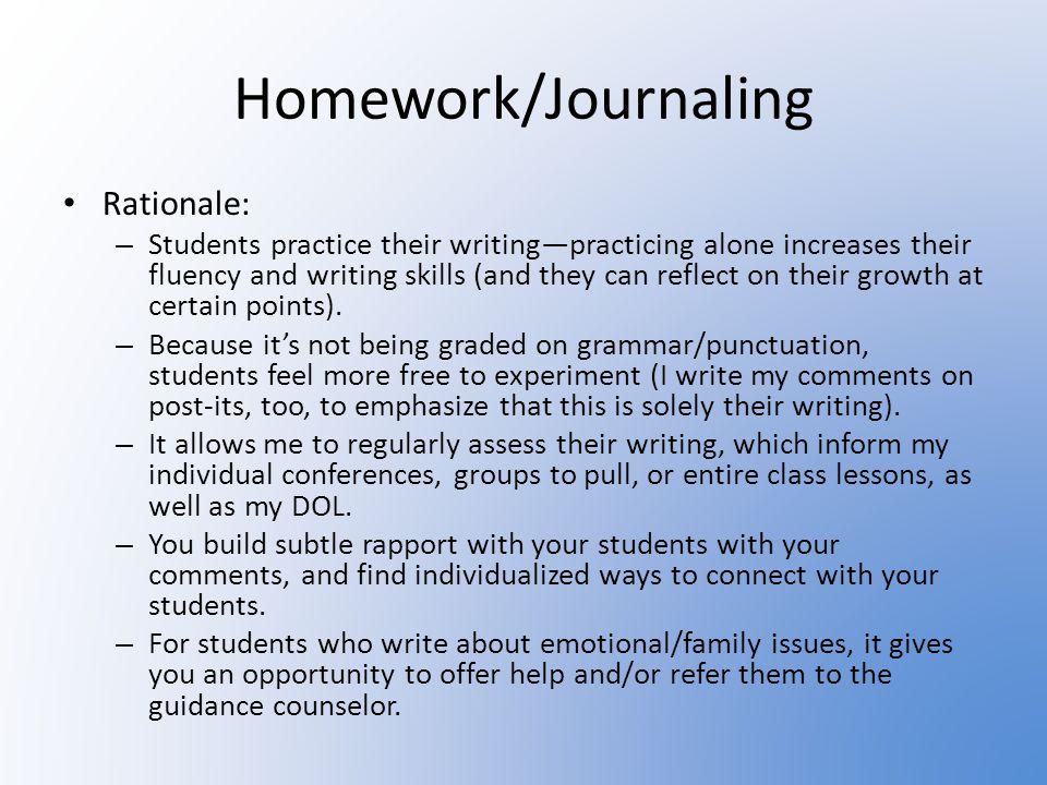 Homework/Journaling