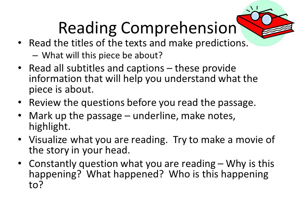 Reading Comprehension Read the titles of the texts and make predictions.