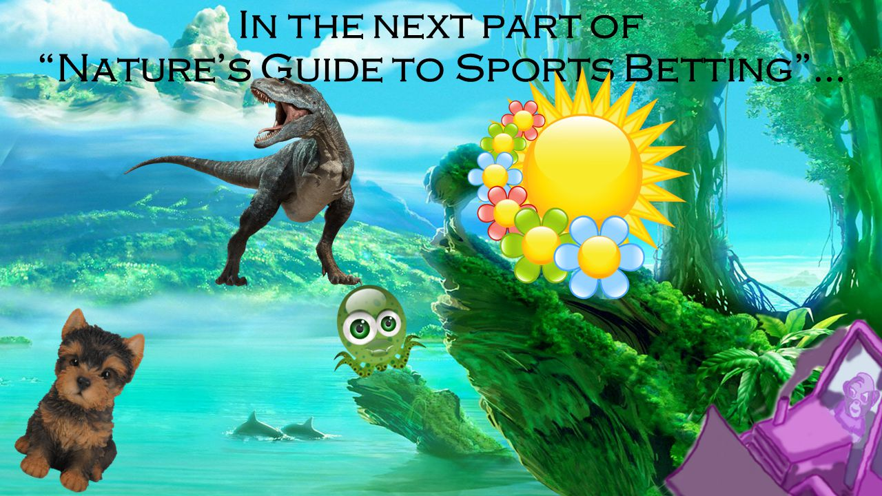 In the next part of Nature's Guide to Sports Betting …