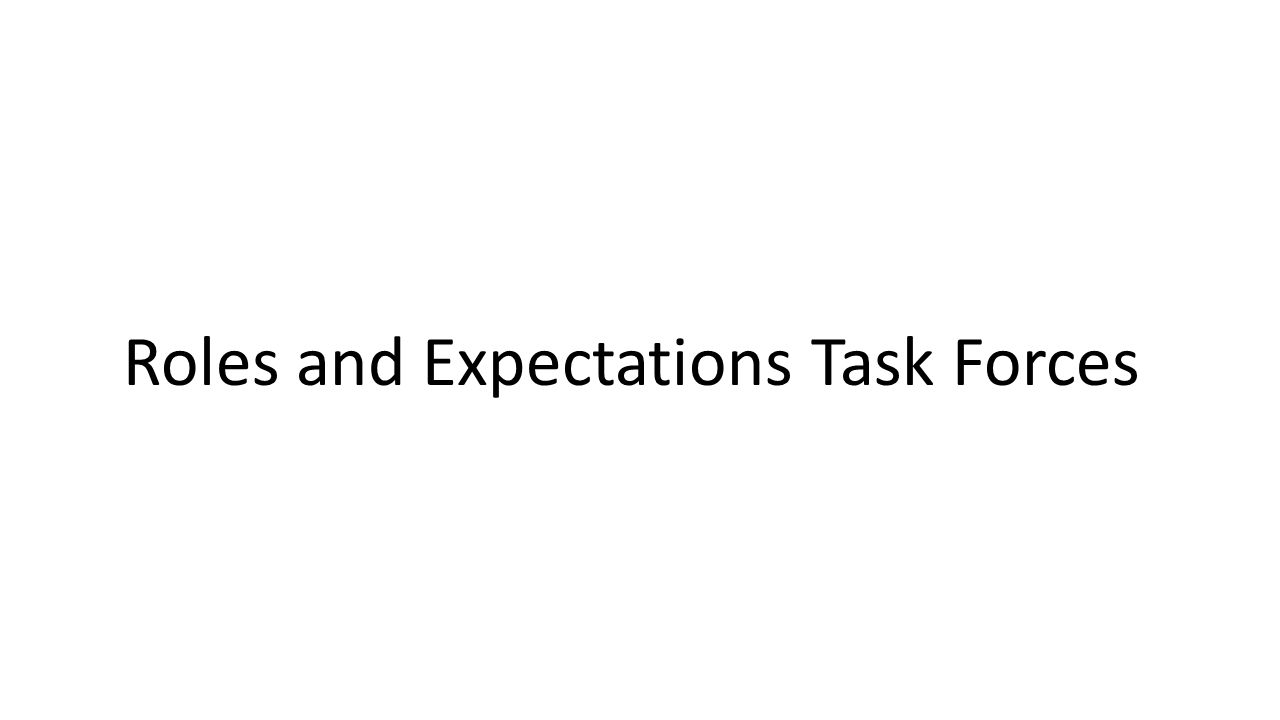 Roles and Expectations Task Forces