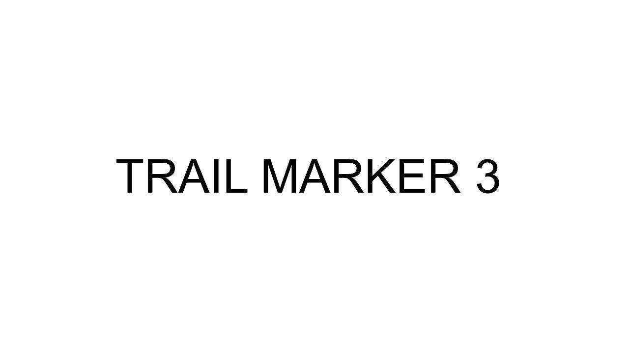 TRAIL MARKER 3