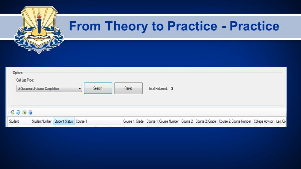 From Theory to Practice - Practice
