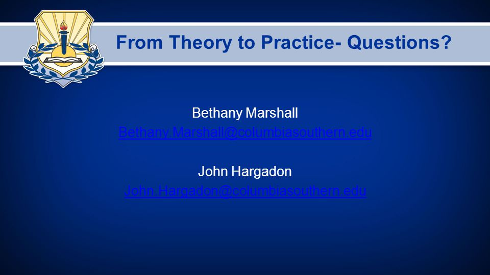 From Theory to Practice- Questions.