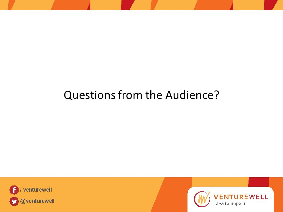 Questions from the Audience?