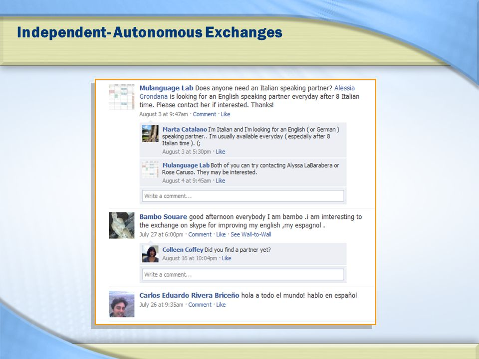 Independent- Autonomous Exchanges