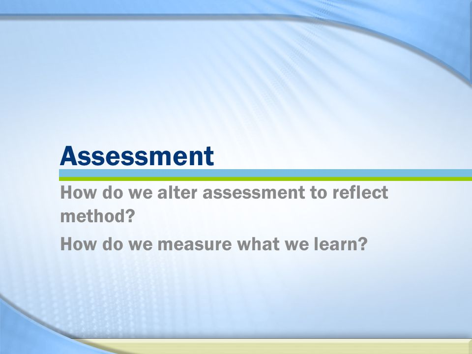 Expert Event: Economist- Specialist TLC Assessment How do we alter assessment to reflect method.