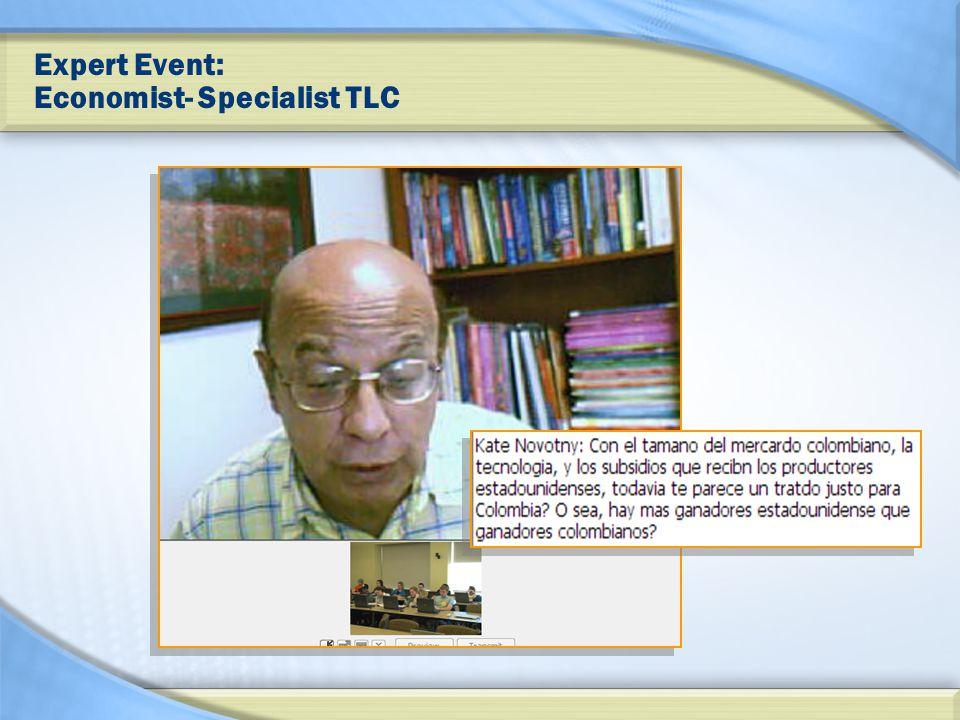 Expert Event: Economist- Specialist TLC