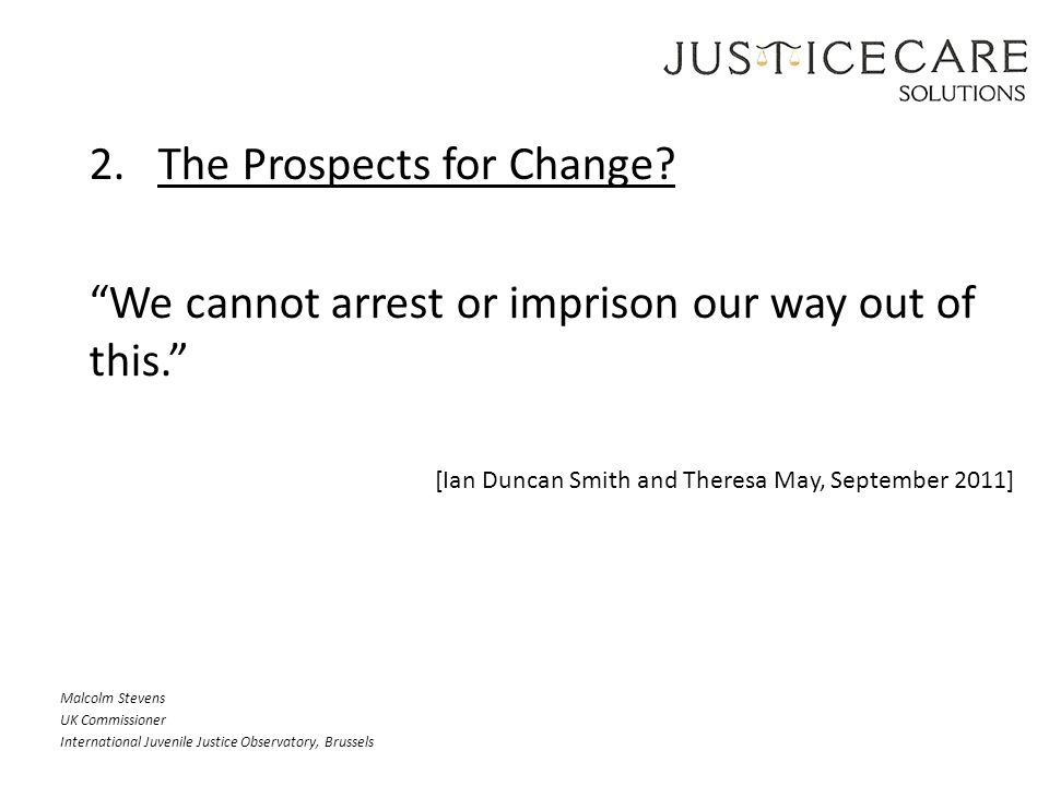 2. The Prospects for Change.