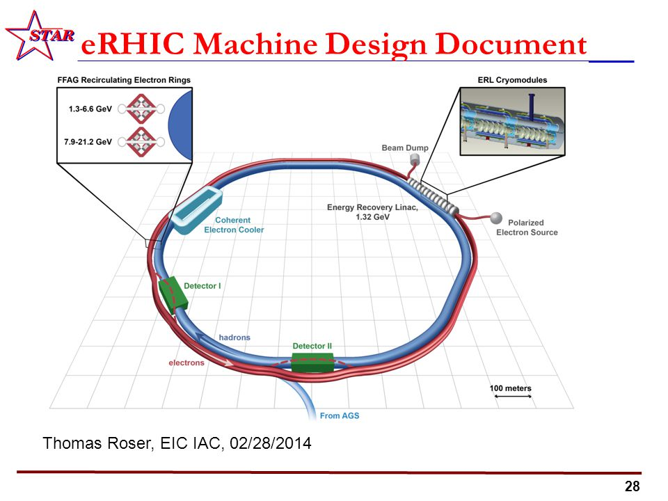 28 eRHIC Machine Design Document Thomas Roser, EIC IAC, 02/28/2014