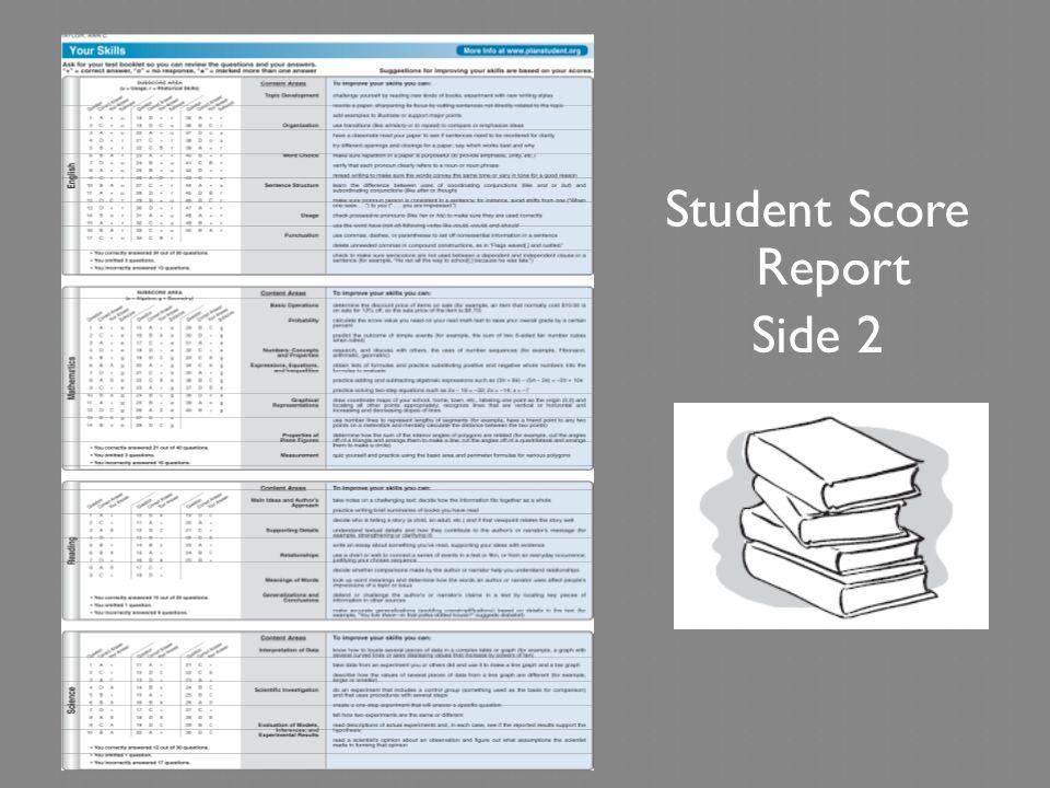 Student Score Report Side 2