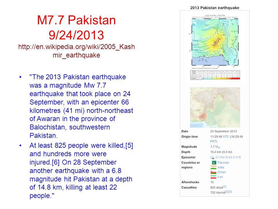 Destruction http://en.wikipedia.org/wiki/2010_Chile_earthquake