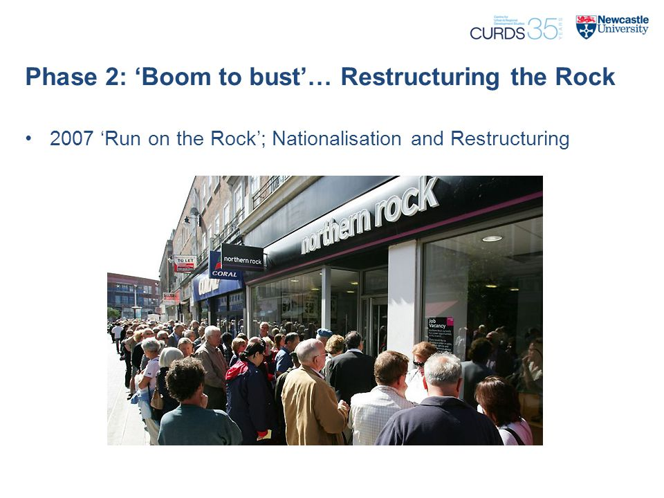 Phase 2: 'Boom to bust'… Restructuring the Rock 2007 'Run on the Rock'; Nationalisation and Restructuring