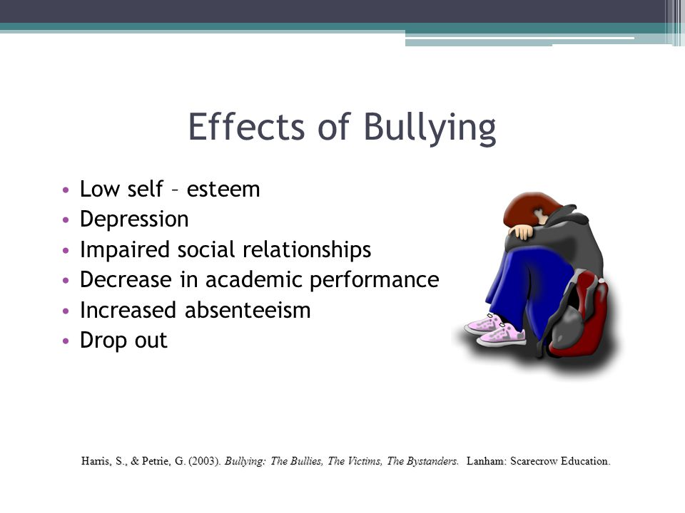 The Bullies: Hurting Themselves.Effects of bullying are not limited to the victims alone.