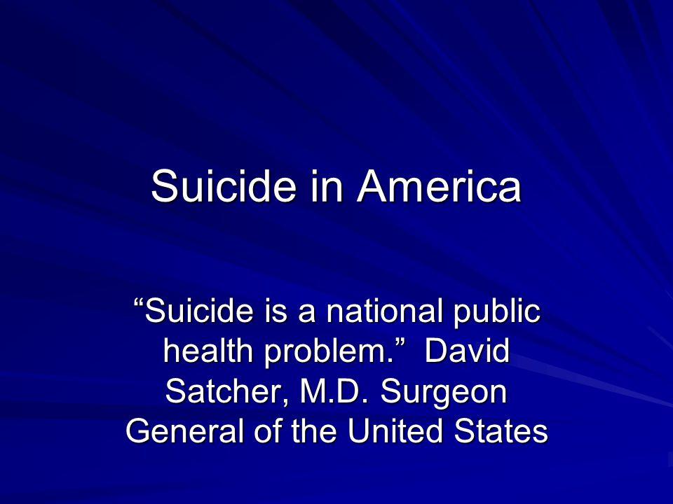 Big picture adult numbers Think, plan, attempt, die 10 million adults think about suicide each year 1.2 million plan a method (gun, MVA, etc) 750,000 attempt (minimum count).