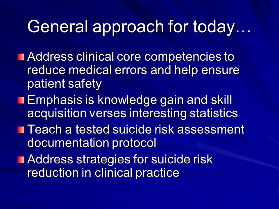 From the Surgeon General Suicide is our most preventable form of death.