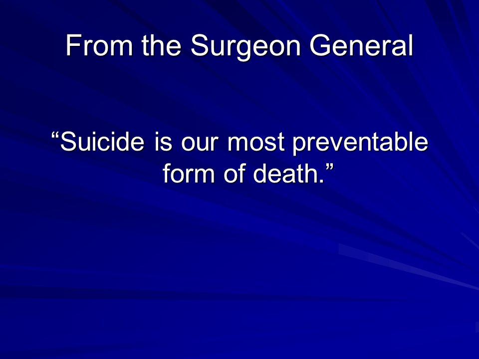 A note on antidepressants TCAs deadly in overdose SSRI's not deadly in overdose Lot's of TCAs prescriptions = more suicides Lot's of SSRIs prescriptions = fewer suicides (EU, Australia, Scandinavia, USA) Sources: Grunebaum, et al, J.