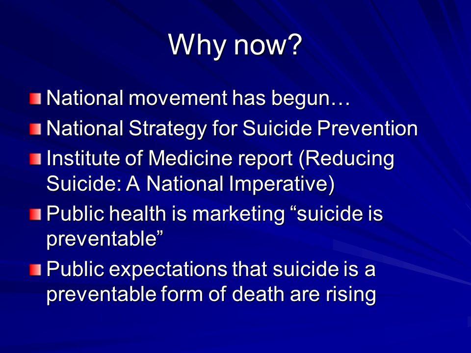 Avoid suicide malpractice every time.