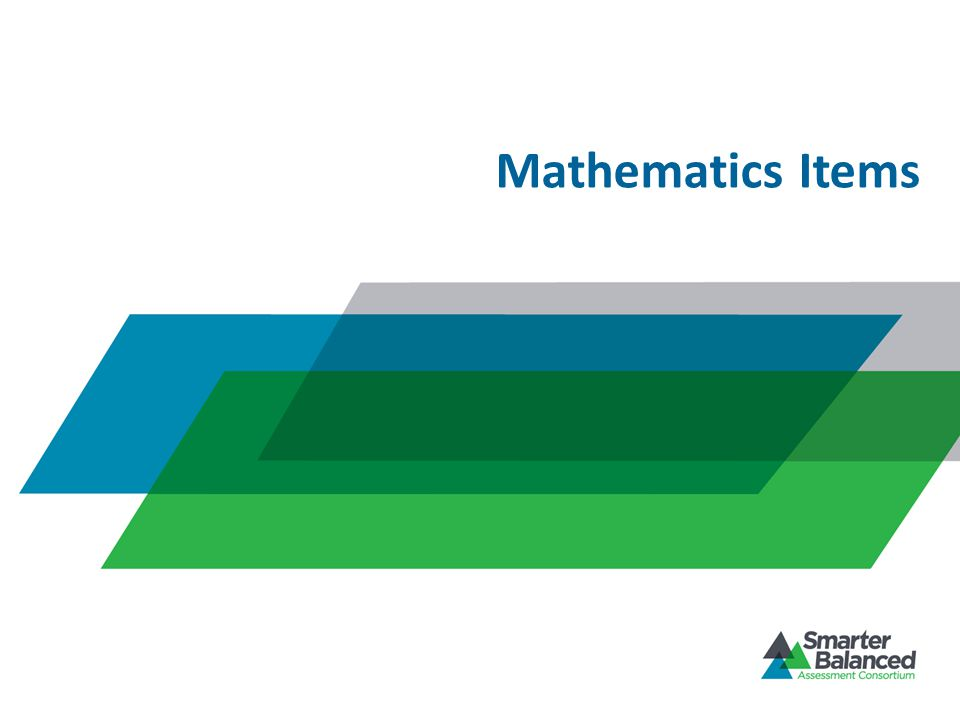 Mathematics Items