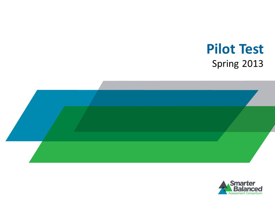 Pilot Test Spring 2013