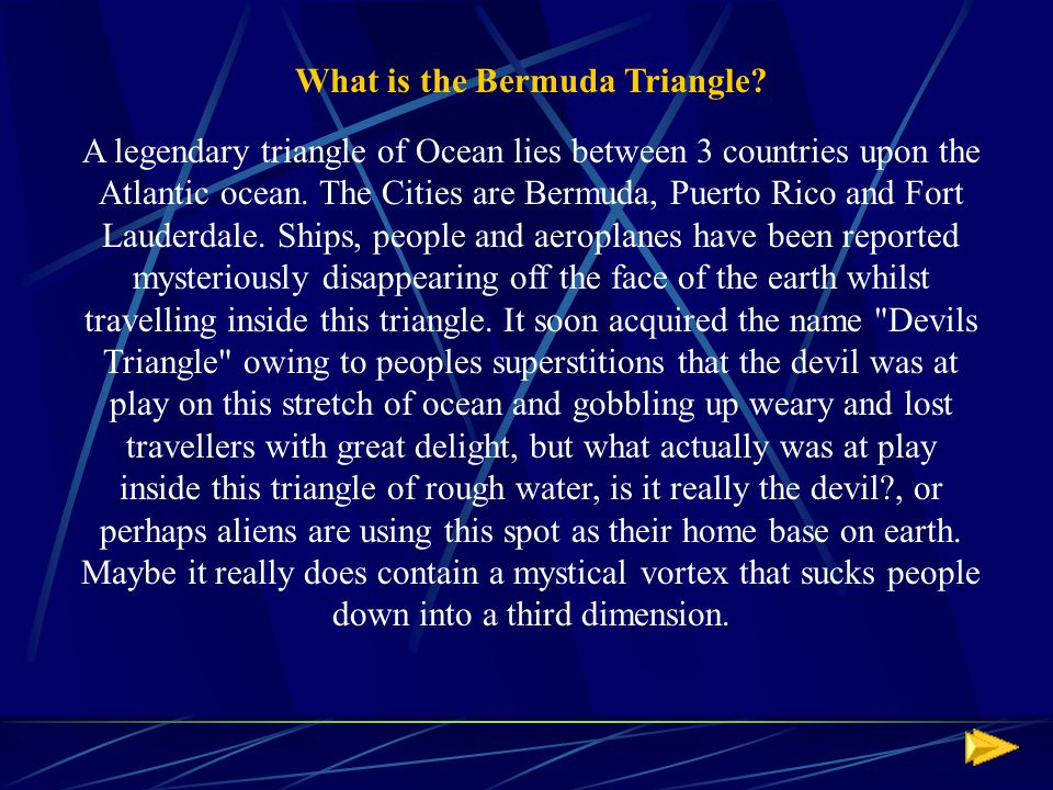 What is the Bermuda Triangle.