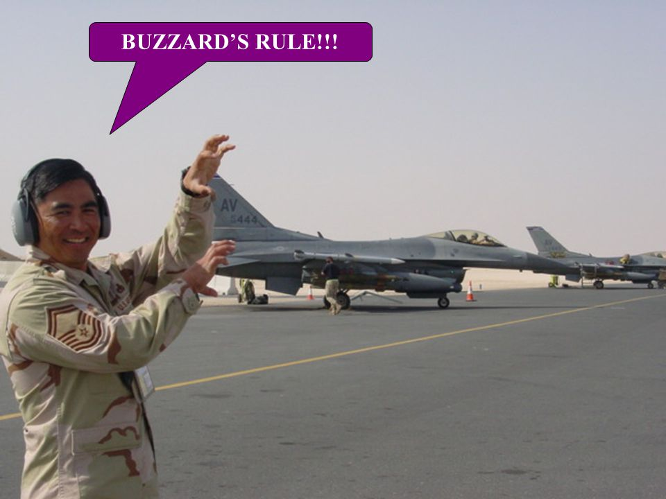 BUZZARD'S RULE!!!