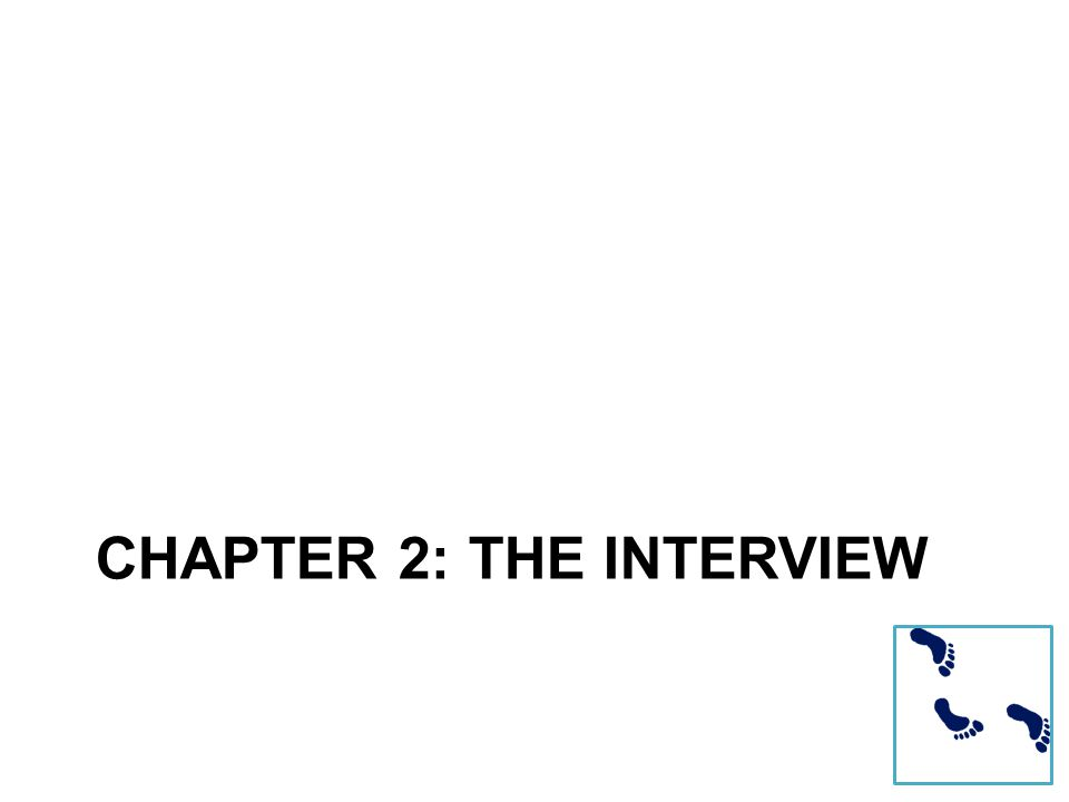 CHAPTER 2: THE INTERVIEW