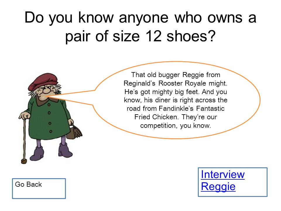 Do you know anyone who owns a pair of size 12 shoes.