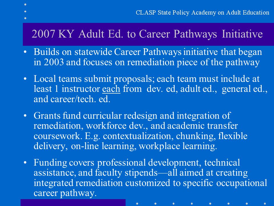 2007 KY Adult Ed.